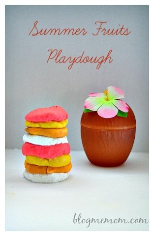 Summer Fruits Scented Playdough Recipe  Blog Me Mom