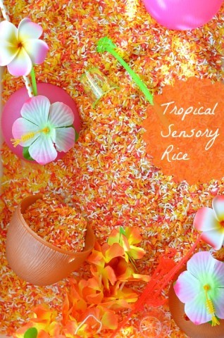 Tropical Fruits Sensory Rice Recipe Blog Me Mom