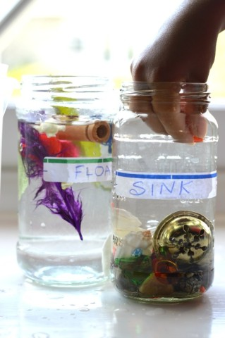 float sink experiments for kids