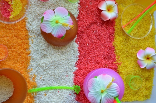 sensory activities with tropical scents