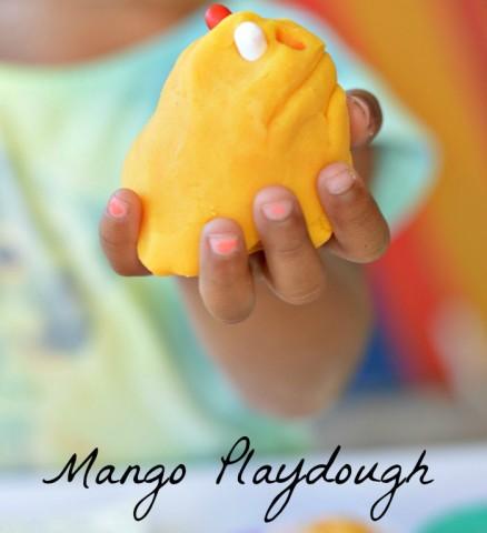 sweet smelling mango playdough