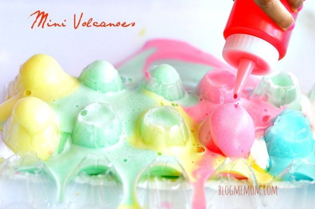 Science activities for kids with baking soda and vinegar
