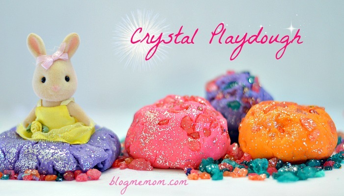 Crystal Playdough Recipe for Kids from Blog Me Mom