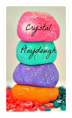 Sparkly Crystal Playdough Recipe