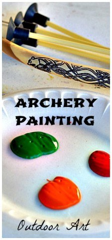 art for kids - outdoor archery painting