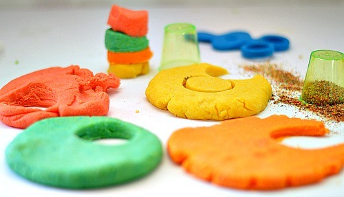 colorful sand dough