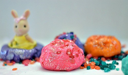 crystals and playdough