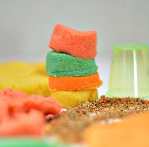 sand dough for kids
