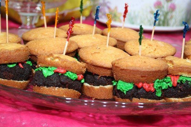 Hamberger cupcake
