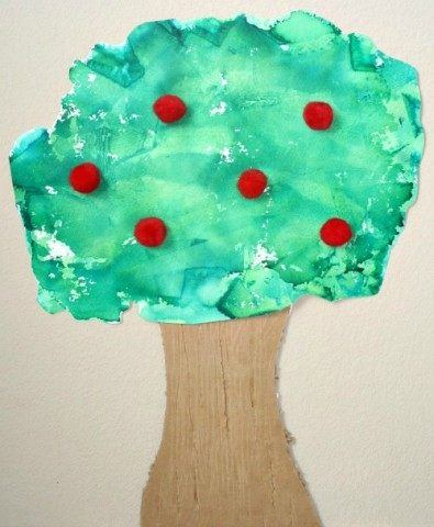Tissue-Paper-Art-Apple-Tree-Craft