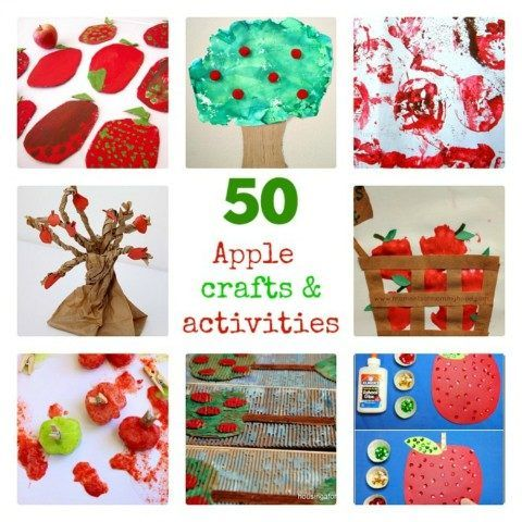 apple crafts and activities for kids all ages