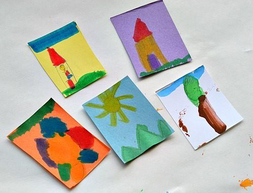 art activities for kids using homemade gelatin stickers