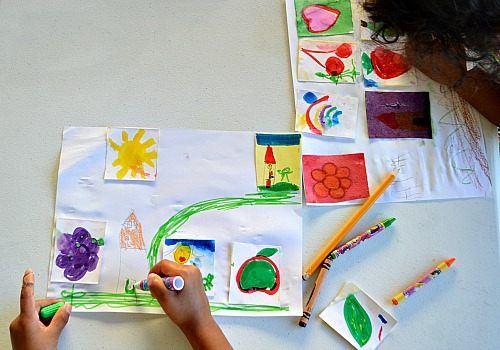 art activity with gelatin stickers