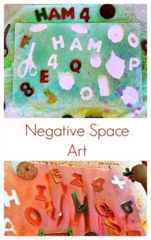 easy negative space art for kids