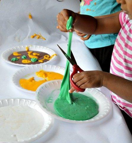 sensory activities for kids with slime
