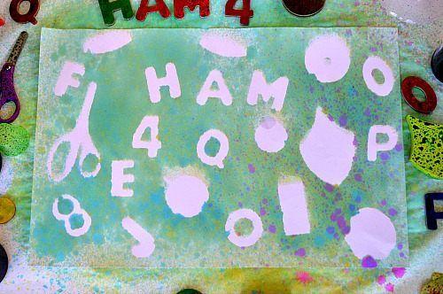 spray stencils art for kids