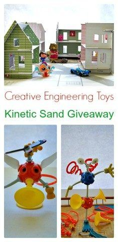 Creative Engineering toys for kids along with a kinetic sand giveaway