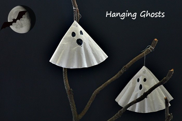 Ghosts Craft for kids for Halloween