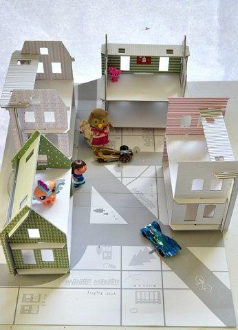built city with cardboard