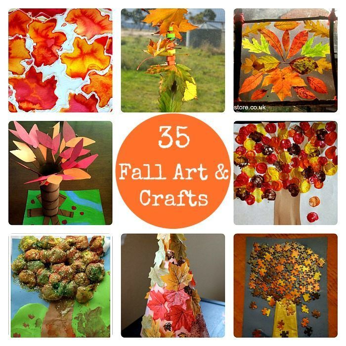 fall crafts and art activities for kids