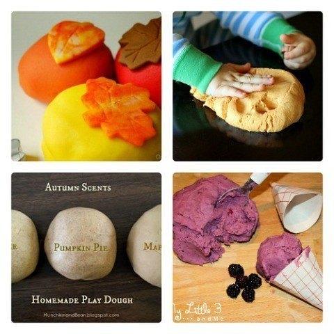 fall play dough