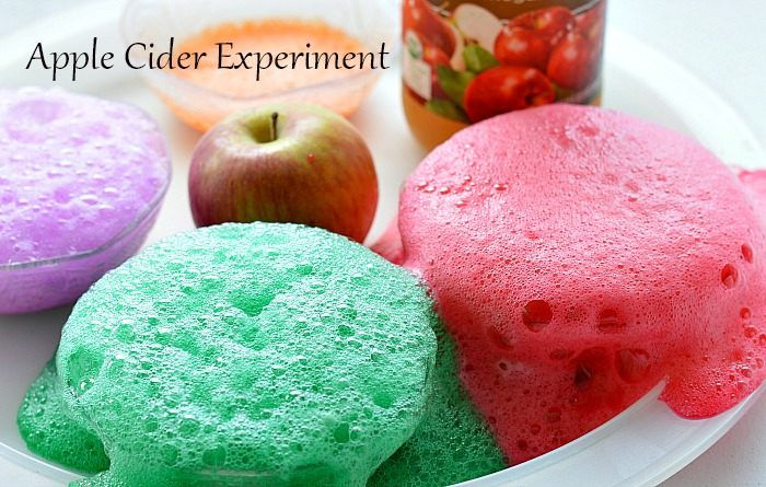 Apple Cider science experiments for kids