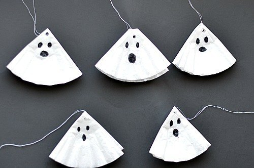 halloween crafts with ghosts for kids