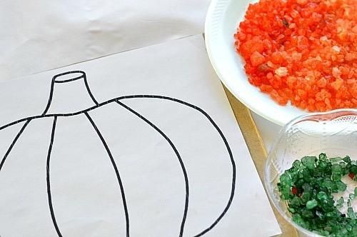 materials for pumpkin craft
