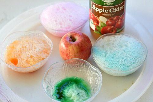 science experiments for kids with apples