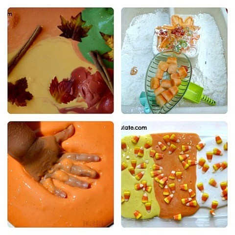 slime and goops for fall sensory activities for kids