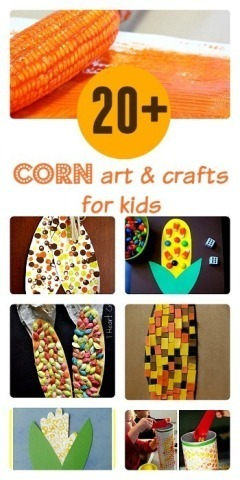 Thanksgiving crafts with corn for kids