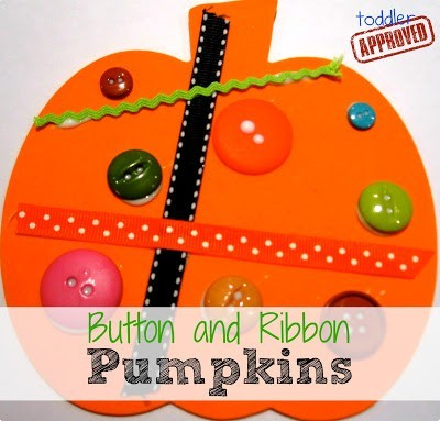 button and ribbon pumpkins