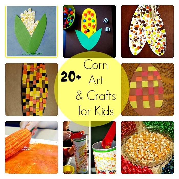 corn art and crafts for kids