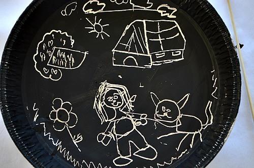 preschooler scratch art