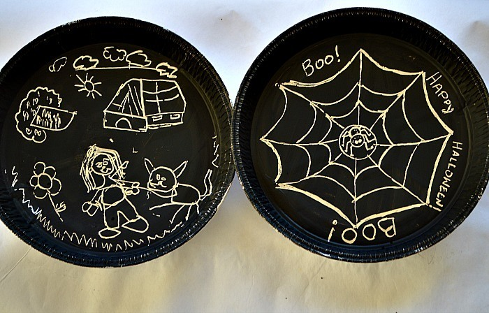 scratch art activities for kids with halloween theme