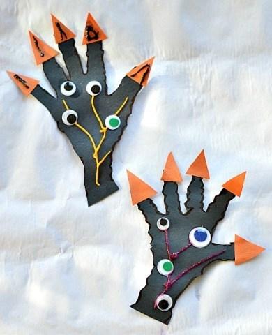 Halloween Craft For Kids Spooky Hands Craft Fun Littles