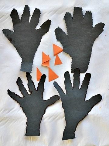 spooky hands kids craft halloween