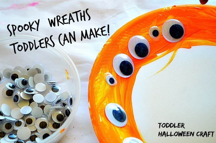 toddler halloween craft using paper plates