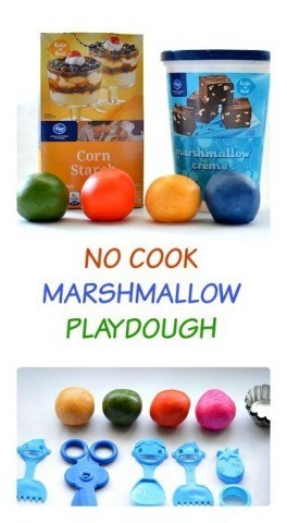 Edible playdough - no cook marshmallow playdough