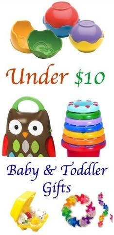 Holiday Gifts for babies and toddler for under $10