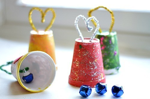 jingle cup homemade ornaments