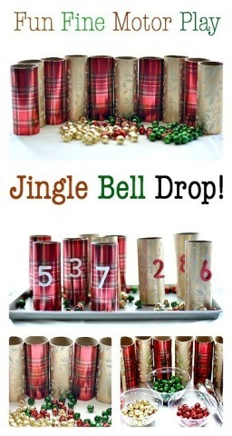Jingle Bell Drop Fun and sensorial fine motor and math activity for kids