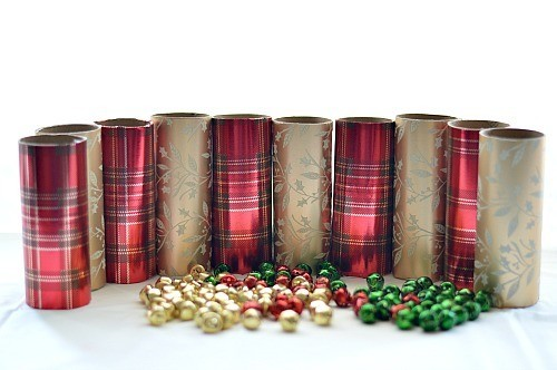 holiday paper rolls with bells