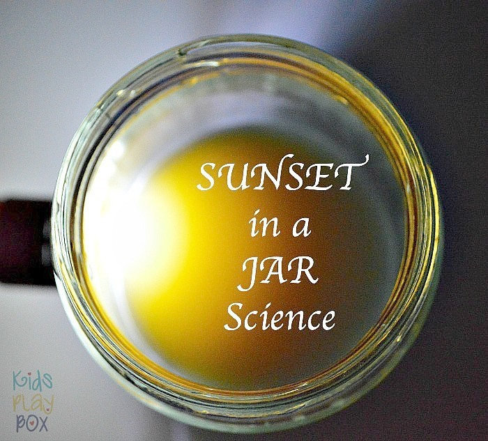 Science for kids Sunset in a jar experiment