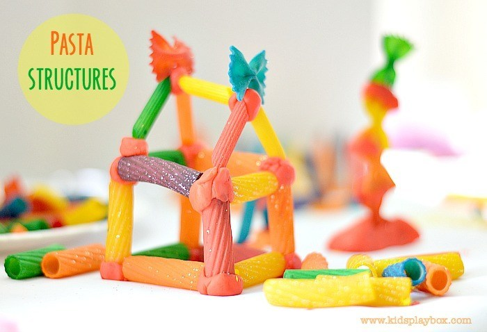 Engineering for kids with pasta building