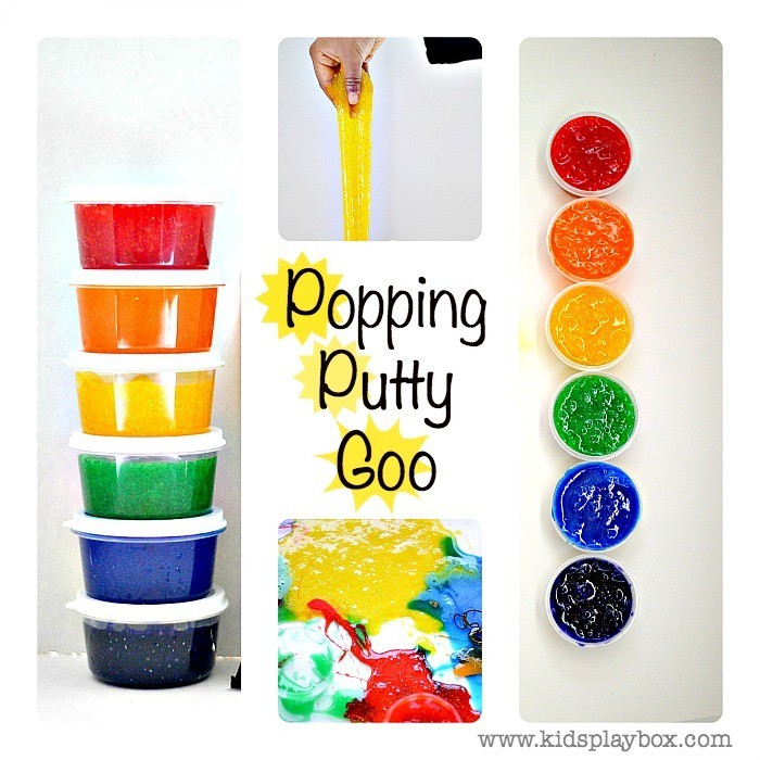 Homemade silly putty that pops and goops  Kids play Box