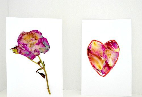 art activities for kids with dry flowers