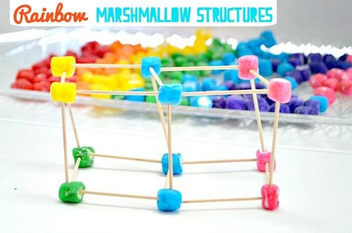 build with rainbow MARSHMALLOWS