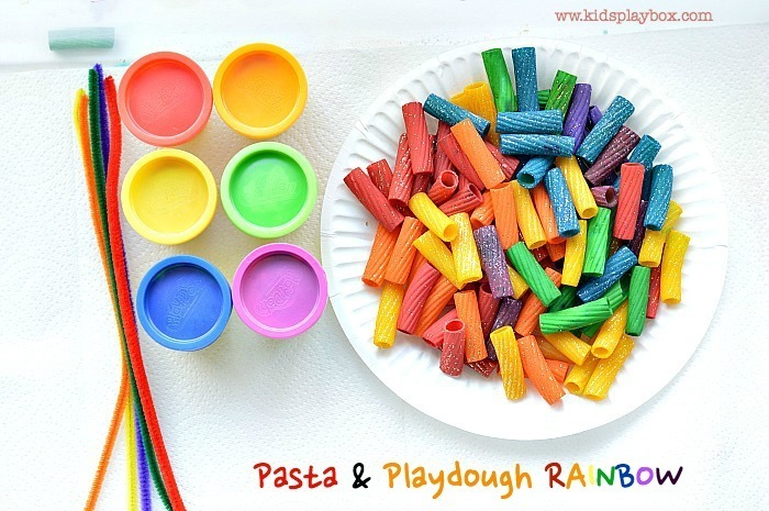 fine motor activities pasta and play dough