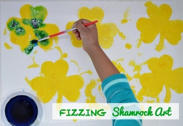 fizzing art with shamrocks. jpg